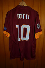 AS ROMA ITALY 2014/2015 CHAMPIONS LEAGUE FOOTBALL SHIRT JERSEY NIKE #10 TOTTI