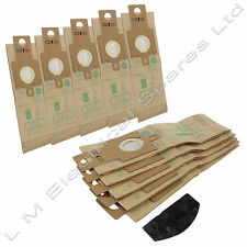 10 x Genuine Hoover H20 Purepower Upright Vacuum Dust Paper Bags + Filter