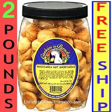 COOKIES IN PARADISE MACADAMIA NUT SHORTBREAD - 30 oz Jar = 2 POUNDS HAWAII