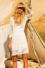 SPELL & THE GYPSY COLLECTIVE Woodstock Mini Dress Off White M Orig. $475 NWT