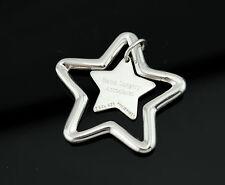 Genuine Tiffany & Co Sterling Silver Star Key Ring Keychain