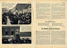 Ein ländlicher Brauch im Hennegau * Zwergdorf Ecaussinnes-Lalaing 1906