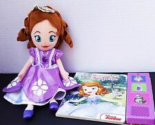 Disney Junior Sofia The First Princess Plush Doll Book Show Tell Surprise Sound
