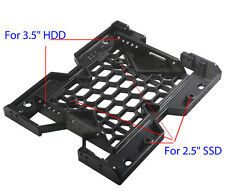 """5.25"""" to 3.5"""" 2.5"""" SSD Hard Drive Bay Adapter Tray Cooling Fan Mounting Bracket"""