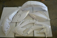 RACE TECH PLASTIC KIT HONDA CRF450X 2005 2006 2007 SHROUDS  FENDERS PLATES WHITE