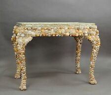 vintage grotto design seashell table