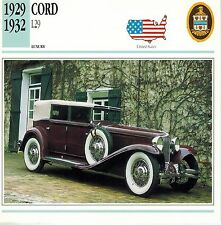 "CORD 1929-1932 ""L29"" ADVERTISING BROCHURE"