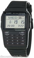 Casio DBC32-1A 25-PAGE Classic Databank Calculator Watch Illuminator Quartz NEW