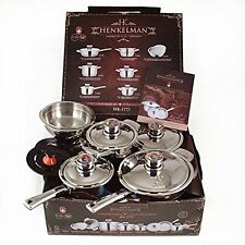 Luxury Pots High-quality Stainless Steel Cookware  Set 17 pcs Thermo heavy