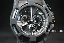 INVICTA RESERVE MENS AKULA CHRONOGRAPH SILVER GRAY RUBBER STRAP BAND WATCH 0631