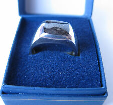 S. SILVER DINASOUR FOSSIL SOLITAIRE/BAND RING QVC USED SIZE U VERY VERY RARE