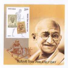 India 2013 Philately Day Mahatma Gandhi  Miniature Sheet Stamps