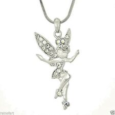 W Swarovski Crystal Tinker Bell Tinkerbell Magic Pendant Necklace Jewelry