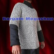 ALUMINIUM ROUND RIVETED CHAINMAIL SHIRT Halloween Costume Xmas New Year Gift