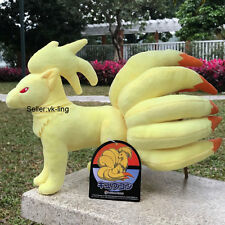 "Pokemon Center Go Stand Ninetales 9"" Sun Moon Nine Tails Fox Plush Toy Soft Doll"