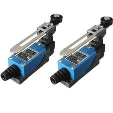 2pcs Roller Lever Arm Limit Switch Rotary Actuator Adjustable Plasma Momentary