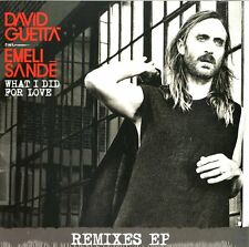 "DAVID GUETTA FEAT. EMELI SANDE WHAT I DID FOR LOVE VINILE EP 12"" NUOVO SIGILLATO"