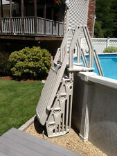 New Above Ground Resin A-Frame Hybrid Ladder & Step Entry System - FREE SHIPPING