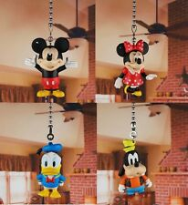 Disney Mickey Minnie Goofy Donald Ceiling Fan Pull Light Lamp Chain K1364 ABCD