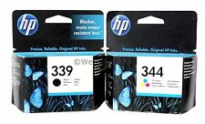 HP 339 344 Black & Tri-Color Ink Cartridges Europe C8767EE C9363EE Genuine New