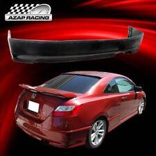 06-11 OE Style Urethane Rear Bumper Lip Spoiler Black For Honda Civic 2DR Coupe