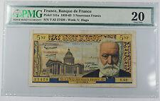 1959-65 Banque de France 5 Nouveaux Francs Note Pick# 141a PMG 20 VF Pinholes