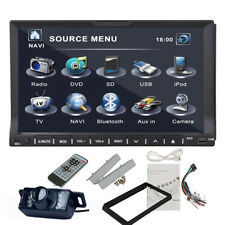 "Samsung Head Touch Double 2Din 7"" Car Stereo DVD Player USB/SD IPod BT + Camera"