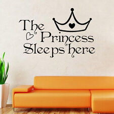 "The Princess Sleeps Here"" Art Removable Vinyl Wall Decal Sticker Room Home Decor"