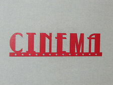 "Large 24"" Red Cinema Wall Word With Stars Sign Movie Theater Art Decor"