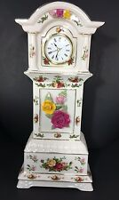 "TALL ROYAL ALBERT 16"" OLD COUNTRY ROSES GRANDFATHER CLOCK"