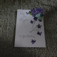 Vintage Birthday Card, Norcross 15FB77, DAUGHTER - Early Violets