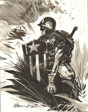 Original Art Tommy Lee Edwards ULTIMATE CAPTAIN AMERICA 11 x 14 Commission