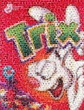 Amazing TRIX Rabbit Cereal Pop Art Montage Only 25 made