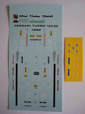 DECALS F1 KIT FERRARI 126 C2 F1 1982 NEW FDS AUTOMODELLI
