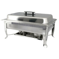 Winco C-1080, Eco-Chafer with Polished Cover and Folding Frame