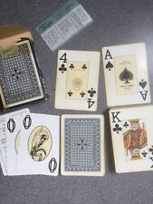 vintage FOURNIER 818 GIGANTE playing cards blue patterned back tax stamped