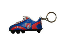 USA BLUE  RED SOCCER SHOE CLEAT KEYCHAIN .. NEW
