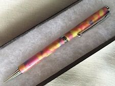 NEW USA Handcrafted Polymer Clay Pen PINK PURPLE YELLOW SPARKLY MOSAIC SW07