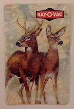 Vintage Swap Playing Card Deer Ray-O-Vac Advertising Reindeer Doe