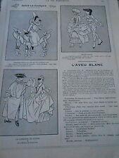 Sous le Masque Polichinelles Carnaval de Venise Alequinade Print Humour 1912