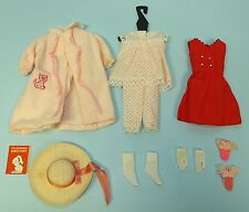 2 VINTAGE MATTEL SKIPPER BARBIE DOLL CLOTHES OUTFITS - RED SENSATION & DREAMTIME