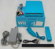 Nintendo Wii Limited Edition BLUE Video Game Console Home System Bundle RVL101