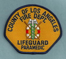 LOS ANGELES COUNTY FIRE DEPARTMENT LIFEGUARD PARAMEDIC PATCH