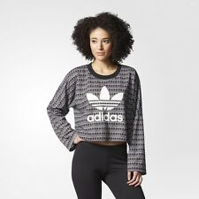 NEW ADIDAS WOMEN'S ORIGINALS PAVAO SWEATER CROP PULLOVER SWEATSHIRT SHIRTS L