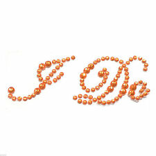 Orange Crystal  I Do Wedding Shoe Sole Sticker XSS26