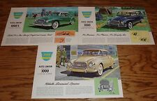 1960 Auto Union 1000 Coupe Deluxe SW Sales Brochure Lot of 3 60