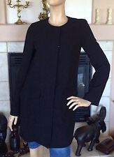 UNIQLO WOMEN'S COLLARLESS COAT COLOR BLACK NWT SIZE XS