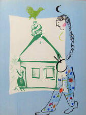 CHAGALL - THE BLUE HOUSE - ORIGINAL LITHOGRAPH - 1960 - SPECIAL $150  !!!