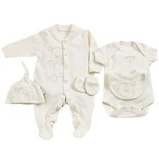 Bio Baby Frühchen 44 50 Kleidung Set weiß Schlafanzug Body Mütze Lätzchen neu