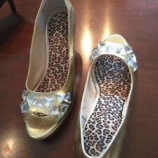 Hot in Hollywood $89 originally - Gold, bling stone shoes!